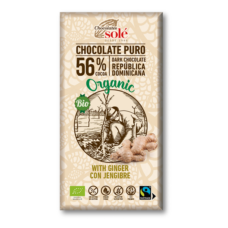 XOCOLATA NEGRA ECO GINGEBRE Chocolates Solé 100g